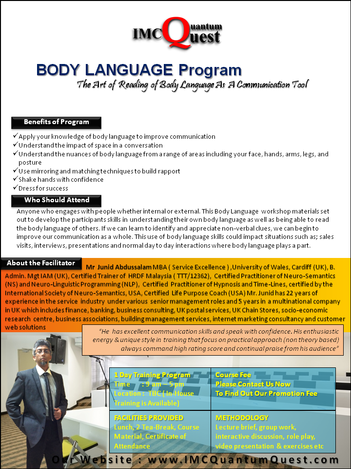Body Language Training Malaysia-1